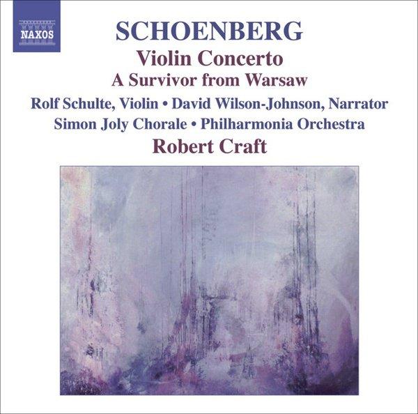 Schoenberg: Violin Concerto; A Survivor from Warsaw album cover