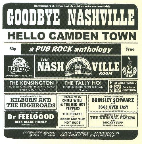 Goodbye Nashville, Hello Camden Town: A Pub Rock Anthology album cover