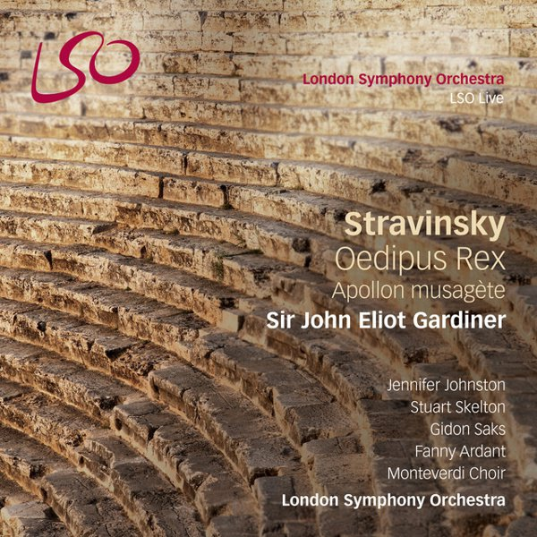 Stravinsky: Oedipus Rex; Apollon musagète album cover