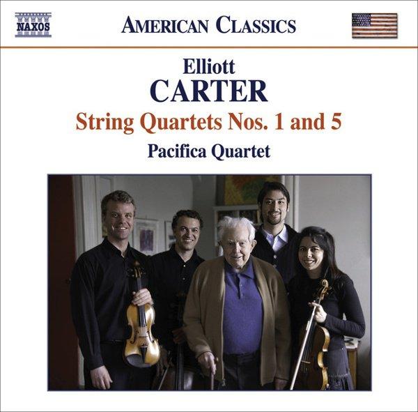 Elliott Carter: String Quartets Nos. 1 & 5 album cover