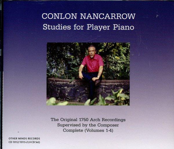 Conlon Nancarrow: Studies for player Piano album cover